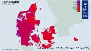 Vestjylland har haft den højeste gennemsnitstemperatur på 4,5 grader i denne vinter.