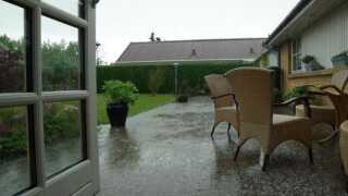 I Ledøje og Måløv ved Ballerup fik de omkring 24 millimeter regn i løbet af onsdagen.