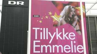 Emmelie de Forest har vundet Eurovision Song Contest 2013. Pressemøde i Koncerthuset. Tillykke Emmelie. DR Byen.