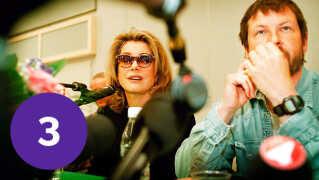 Instruktør Lars von Trier med den kvindelige hovedrolle Catherine Deneuve.