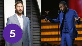 Calvin Harris (tv.), Frank Ocean (th.) og Migos har sammen lavet nummeret 'Slide'.