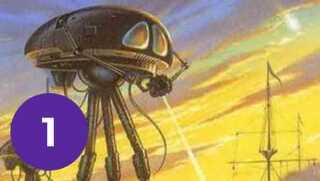 'War of the Worlds' er udgivet på dansk med titlen 'Klodernes kamp'.