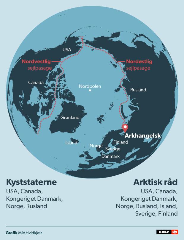 Kort over Nordkalotten
