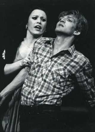 Skuespillerne Betty Glosted og Preben Kristensen på scenen da Aarhus Teater sidst opførte 'West Side Story' i 1979.