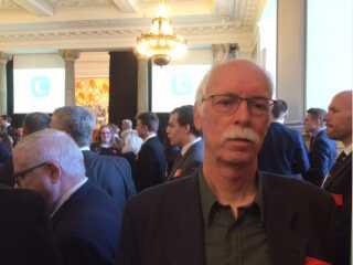 Anders Skou Hansen var som menigt K-medlem mødt op ved dagens reception på Christiansborg.
