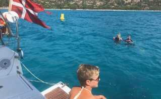 Jacob Glad og resten af familien har været af sted på bådferie et par gange.