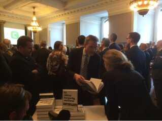 Også DF-formand Kristian Thulesen Dahl var til stede ved de Konservatives reception.