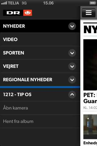 dr nyheder app screenshot