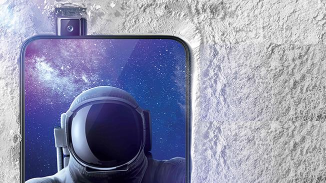 Det er kun det lille selfie-kamera, der popper ud af Vivo Nex.