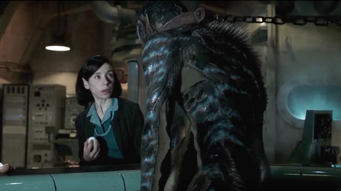 'The Shape Of Water' er instrueret af Guillermo del Toro. Filmens kvindelige hovedrolle er Sally Hawkins (på billedet), der også er nomineret til en Oscar. (© Fox Searchlight)