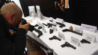 Politiet fandt et våbenarsenal i NSU's udbombede tilholdssted. (Foto: alex Grimm © Getty Images)