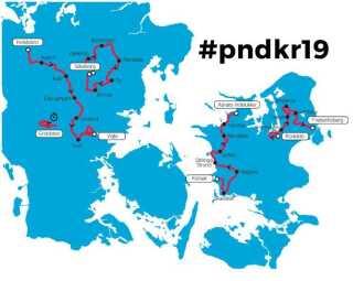 Her kan du se ruten i Danmark Rundt 2019.