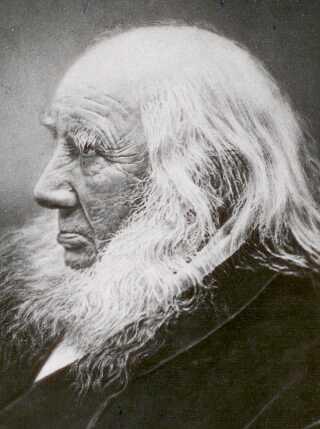 Grundtvig fotograferet i 1872. Han døde 2. september samme år, 88 år gammel.