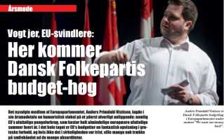 Fra Dansk Folkepartis medlemsblad fra oktober 2014.