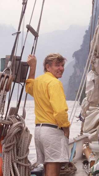 Ikke mange har som Troels Kløvedal sejlet på de store verdenshave. Foto: Privatfoto