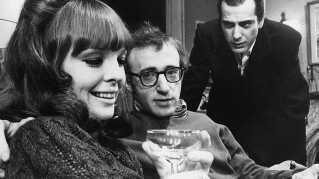 "Diane Keaton, Woody Allen og Jerry Lacy i Broadway-versionen af ""Play It Again, Sam""."