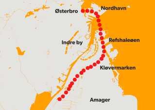 En havnetunnel under København vil lede trafikken fra Helsingørmotorvejen til Amagermotorvejen ad denne rute.