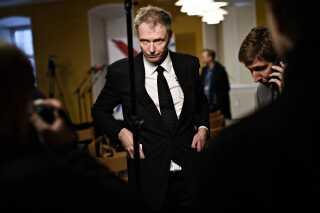 Klaus Riskær Pedersen holdt i dag pressemøde i Vartov i København, da hans parti har fået nok vælgererklæringer til at kunne stille op til valget. Nu mangler Indenrigsministeriet bare at godkende erklæringerne.