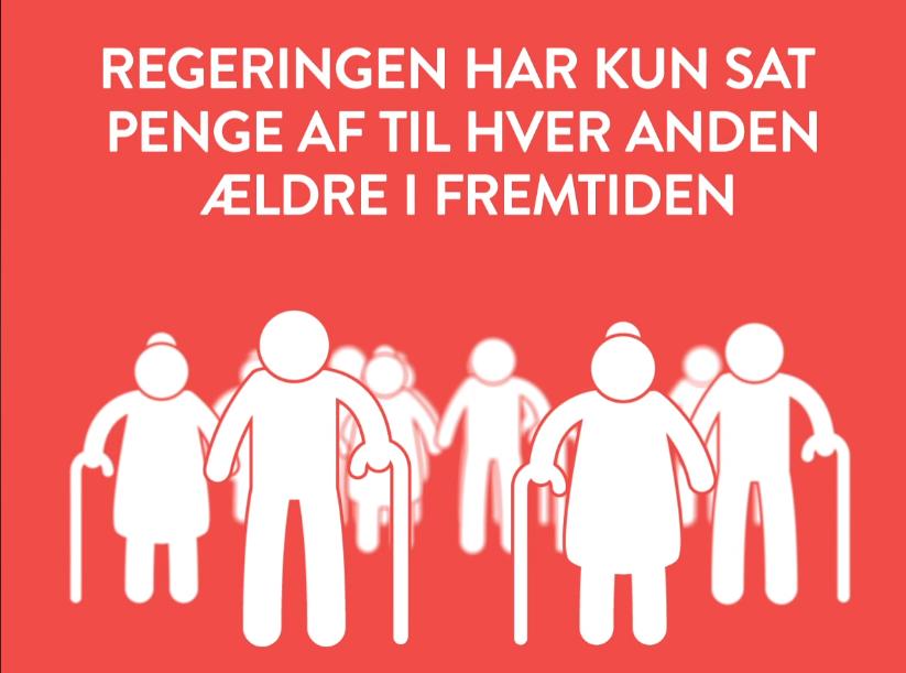 Socialdemokratiets annonce på partiets Facebook-side