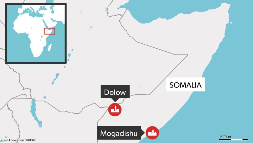 Dolow ligger tæt på grænsen til Etiopien.
