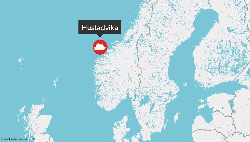 Det er i dette område, at krydstogtskibet er i gang med at blive evakueret.