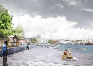 Collage fra Jessens Mole i Svenborg.