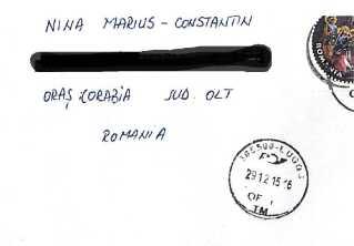 Den rumænske arbejder, Marius Constantin Nina, modtog i december 2015 denne kuvert mod to næsten identiske fyresedler fra IF Group og MH Entreprise Tørring.