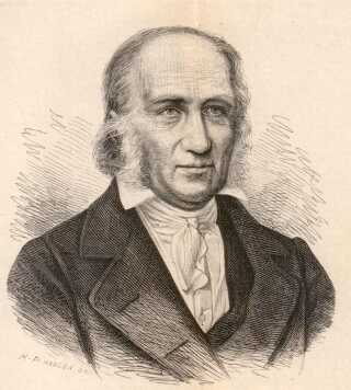 Grundtvig tegnet 1847, hvor han for alvor er begyndt at skrive salmer. Ca. 1500 salmer blev det til i alt, og ud af Den Danske Salmebogs 791 salmer har Grundtvig skrevet de 163 og lavet 90 gendigtninger.