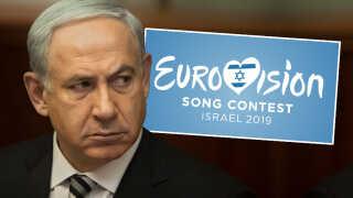 Israels premiereminister, Benjamin Netanyahu, og resten af landets regering har længe kæmpet med israelsk tv om regningen for de store Eurovision-shows.