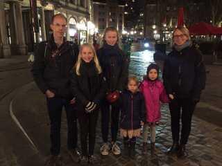 Annette Bendtsen og hendes familie er på ferie i Bruxelles.