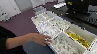 I stofindtagelsesrummet H17 er rene kanyler og andet såkaldt værktøj til at indtage stoffer med gratis tilgængeligt.