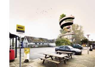 Sådan kan tårnet i Hundelev komme til at se ud, hvis man vil satse på naturen som ingrediens.