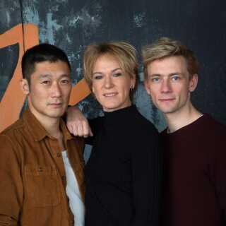 Sammen med Thomas Hwan (tv.) og Esben Smed (tv) er Maria Rich én af 'Bedrag III's hovedroller med rollen som bankkvinden Anna, der lokkes over på den forkerte side af loven.