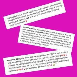 Iman Meskini fik overraskende mange positive kommentarer på sit Instagram-opslag, fortæller hun. Her et udvalg af dem, som er kommet med i bogen.