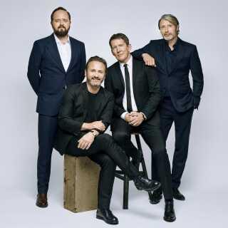 Magnus Millang, Lars Ranthe og Thomas Bo Larsen spiller sammen med Mads Mikkelsen i 'Druk'.