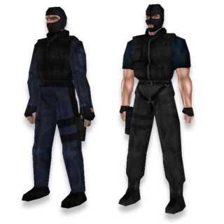 Det var i begyndelsen svært at se forskel på terrorister og counter-terrorister. Her er det terroristen til højre.