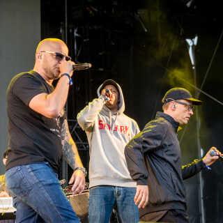 Pharfar, Eagger og Blæs Bukki fra Bikstok stod bag en hed reggaefest lørdag eftermiddag på Northside Festival.