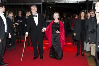 Morten Grunwald og Lily Weiding ved gallapremiere på filmen Stille Hjerte i Imperial i 2014.
