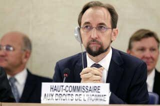 FN's menneskerettighedschef, Zeid Ra'ad Zeid al-Hussein.