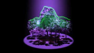 NASAs GEDI-laser måle 3D-strukturen af alverdens skove. Her en kunstners illustration.