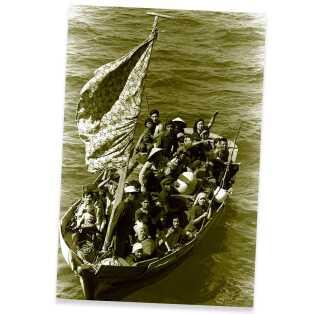 Mange vietnamesere forsøgte at flygte til andre lande i løbet af 1970'erne. De tog ofte chancen på små, ustabile både.
