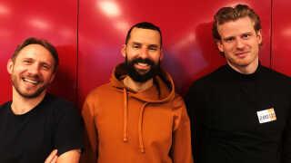 Lørdagens hold i 'Sangskriver'. Fra venstre: Jonas Gülstorff, Isam Bachiri og Mattis Jakobsen.