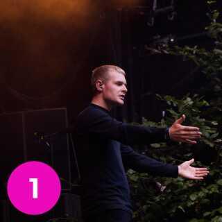 The Minds of 99 har de seneste år spillet rundt omkring i hele landet. Her ses forsanger Niels Brandt på Smukfest i 2017.