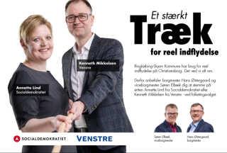 S'er og V'er i fælles front i Dagbladet Ringkøbing Skjern. Foto fra Søren Elbæks Facebookprofil.