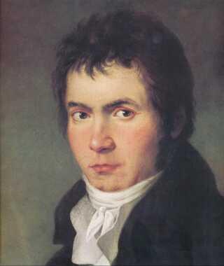 Ludwig van Beethoven var midt i 30'erne, da han blev malet af  Joseph Willibrord Mähler i 1804-05.