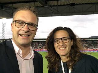 Henrik Liniger og Arnela Muminovic er en del af det hold, der dækker kvinde-VM på DR henover sommeren.
