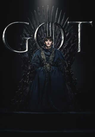 Det var måske de færreste, der havde gættet, at Brandon Stark skulle blive den nye konge. Her ses han på Jerntronen - der dog nu er smeltet af Drogon.