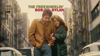 Bob Dylans ikoniske plade Freewheelin' fra 1963 med klassikere som Blowin' in the Wind og A Hard Rain's A-Gonna Fall
