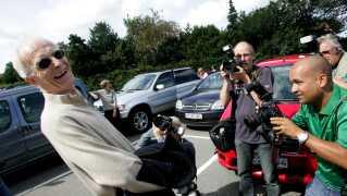 Her ses Mogens Amdi Petersen, efter at Byretten i Ringkøbing torsdag 31. august 2006 havde frikendt ham for anklagerne for bedrageri. Det var sidste gang han blev set i Danmark.