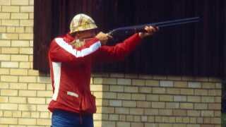Kjeld Rasmussen i aktion ved Legene i 1980, hvor han vandt guld.